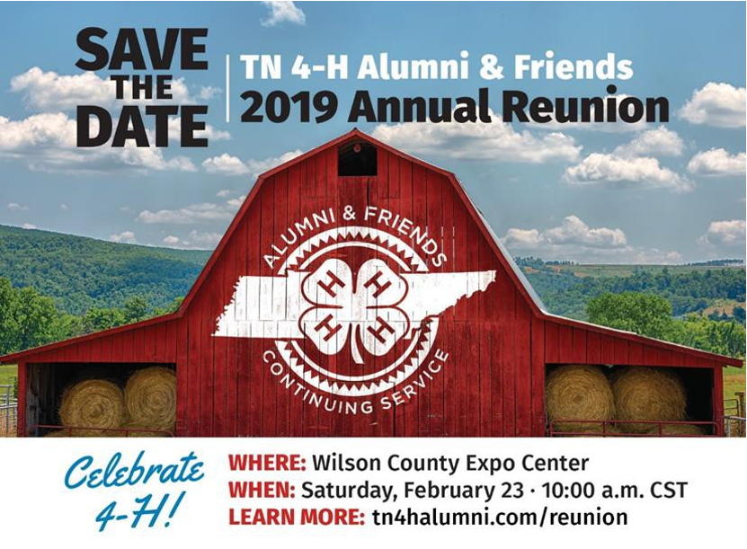 Tennessee 4-H Alumni & Friends 2019 Annual Reunion