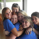 4-H is Positive Youth Development - 6 Teenage 4-H Girls Hugging