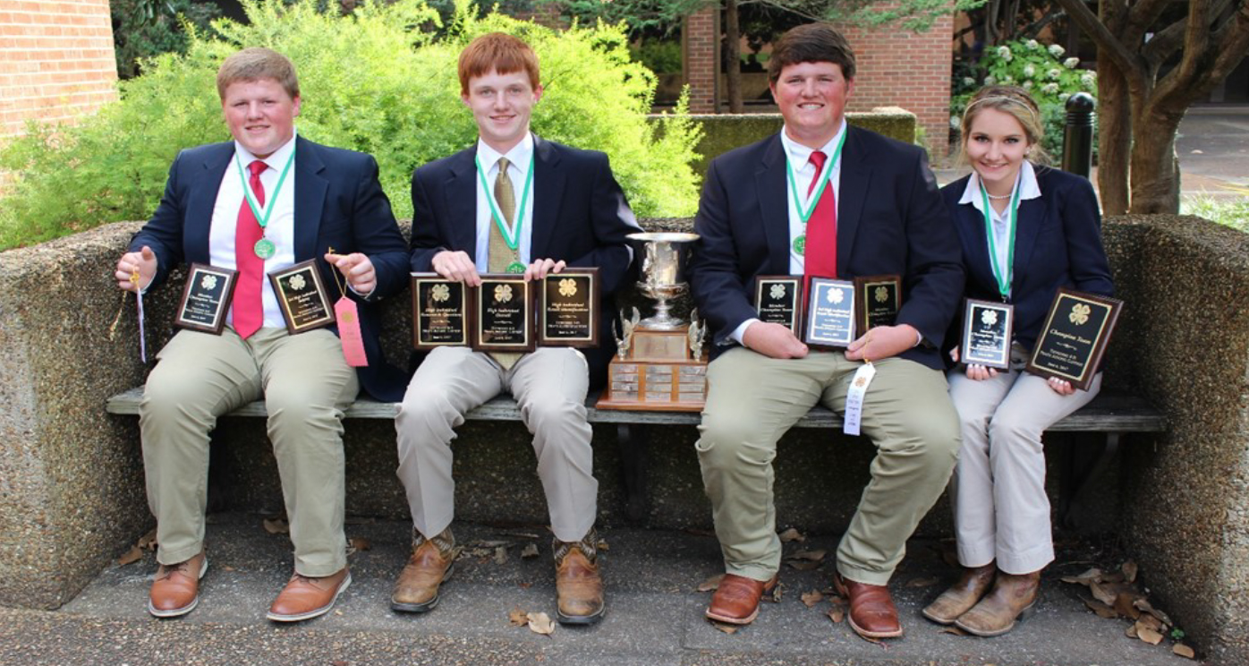 State 4-H Meats Judging Contest Results - The Bedford County A team, Lawson Lemmon, Brett Harden, Hunter Lemmon and Emily Crabtree