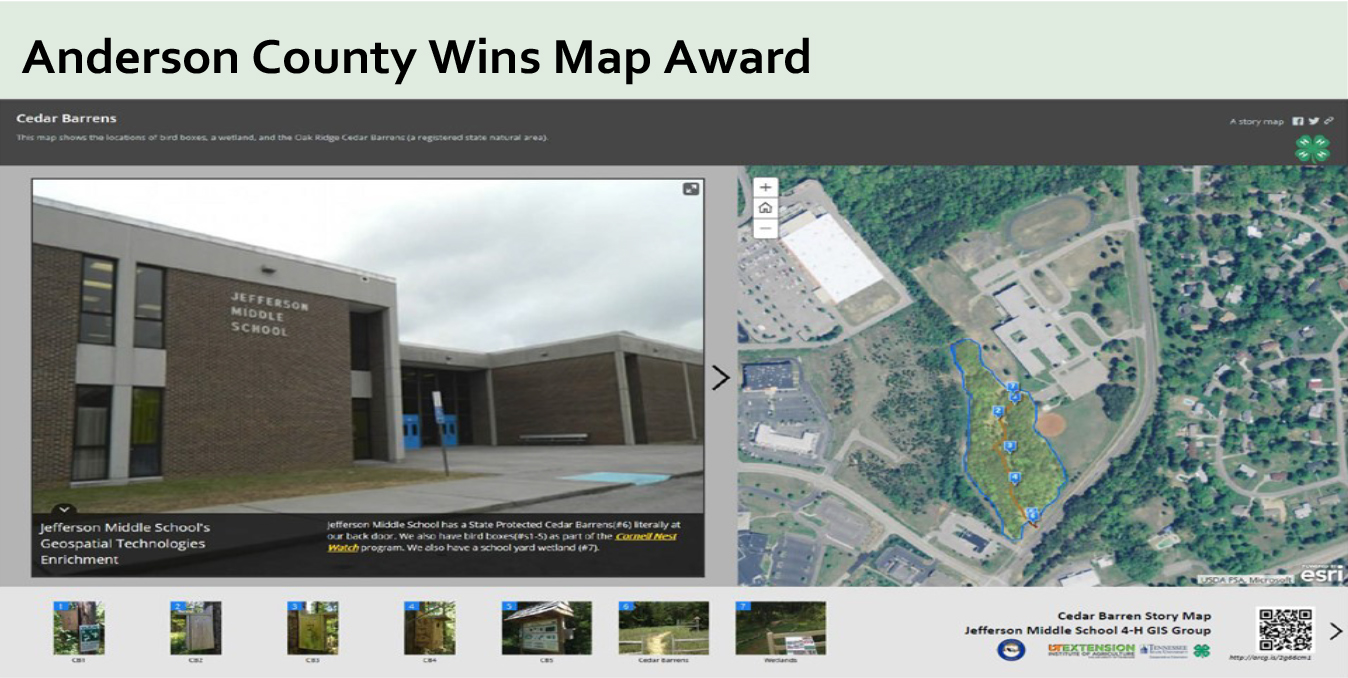 Anderson County Wins Map Award