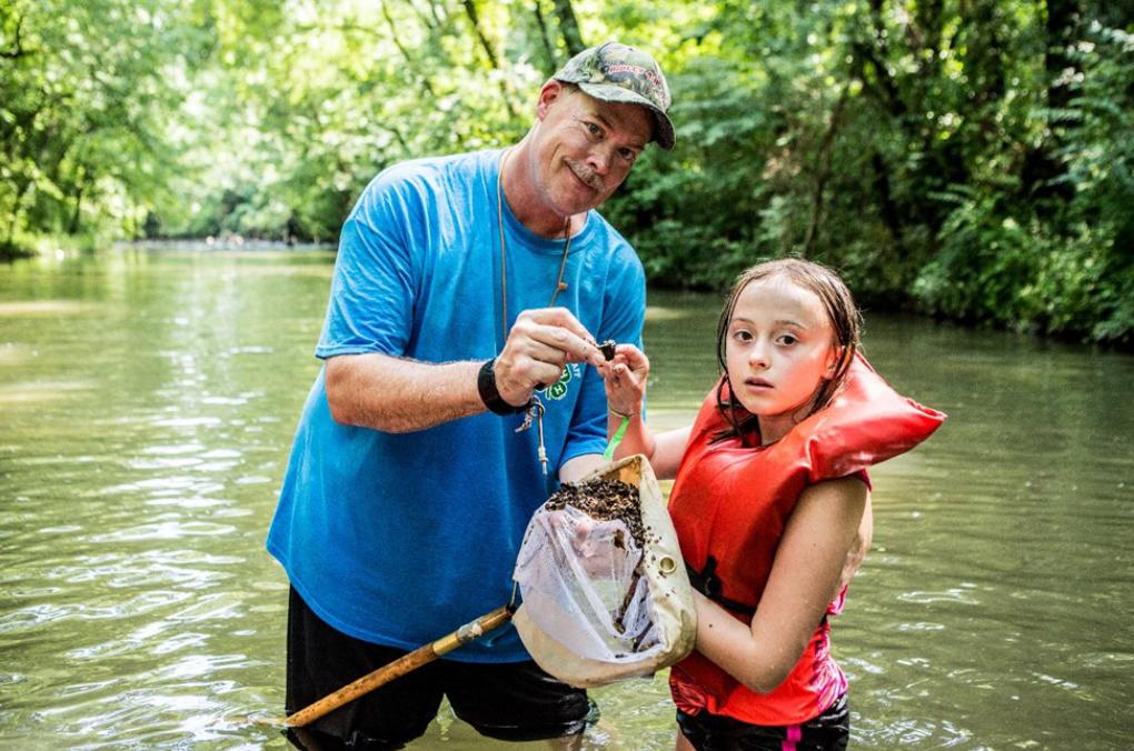 Man and Girl Fishing