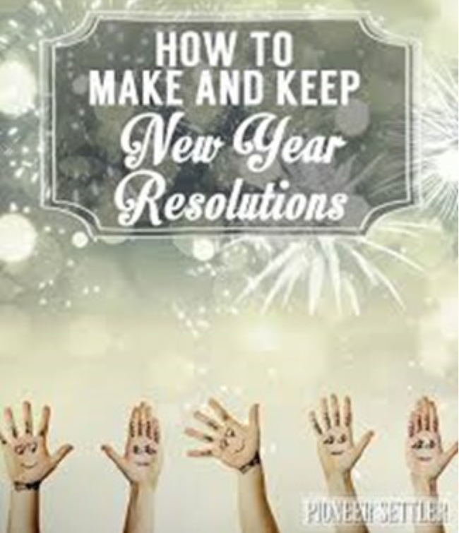 How to Make and Keep New Year Resolutions