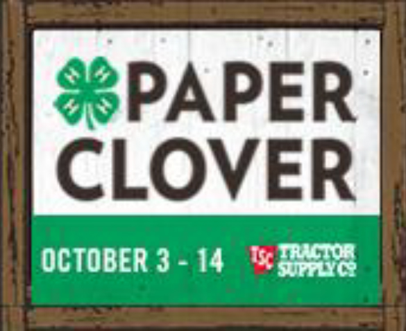 Fall Tractor Supply Paper Clover Campaign
