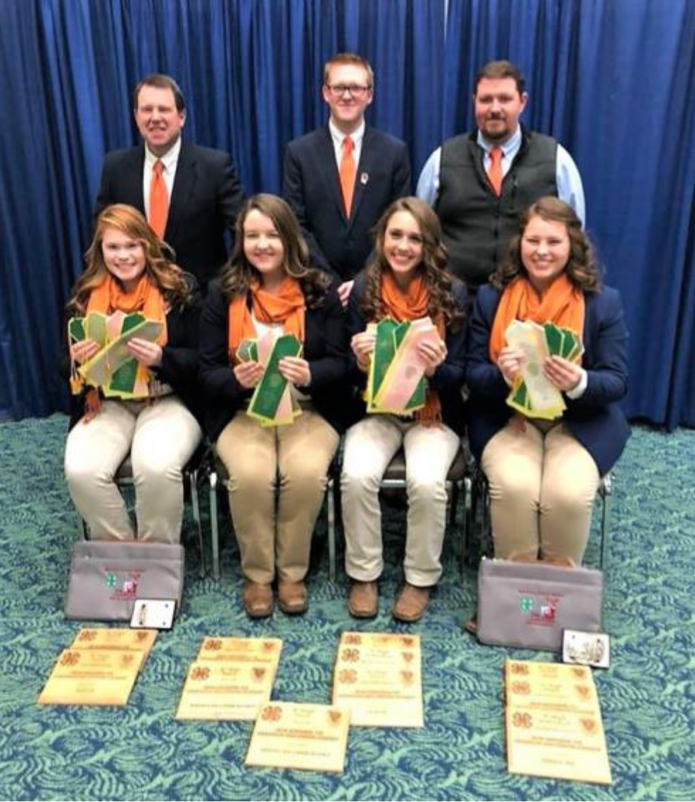 Tennessee 4-H Livestock Skillathon Team Competes at NAILE - The team consisted of Emily Johnson of Loudon Co., Emily Nave of Rutherford Co., Kaitlin Taylor of Wilson Co., and Keri Beth Cox from Bradley Co.