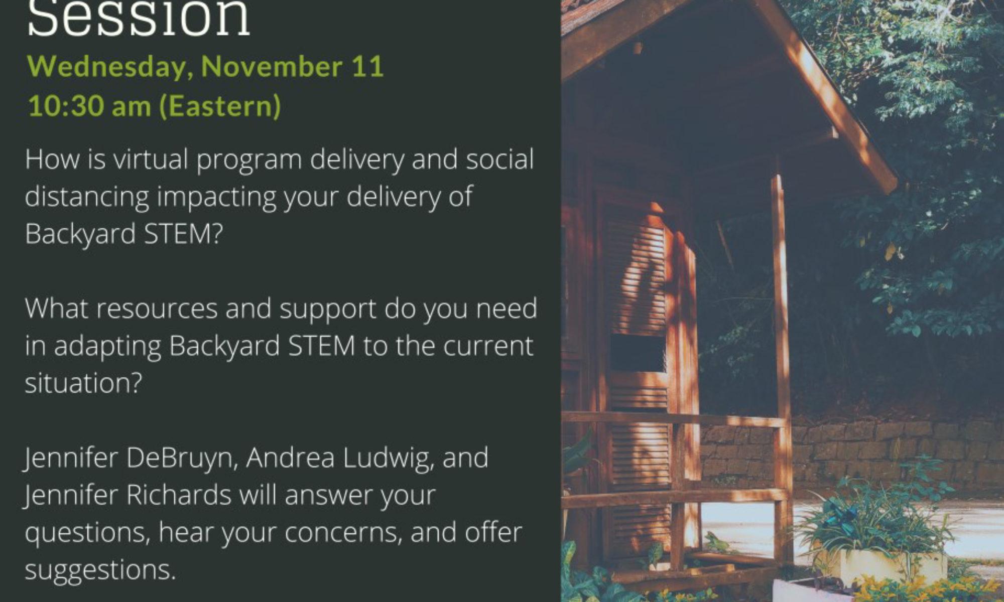 Backyard STEM - 4-H Listening Session