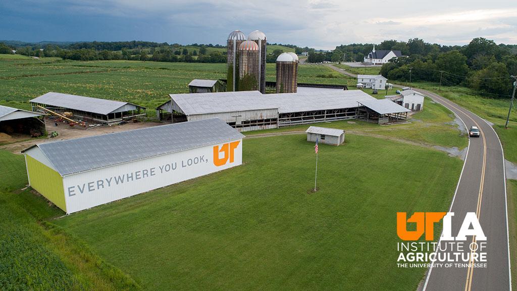 Mohawk, TN Farm with UT slogan painted on barn