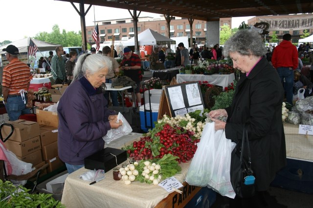 Picture of women shopping at farmer's market