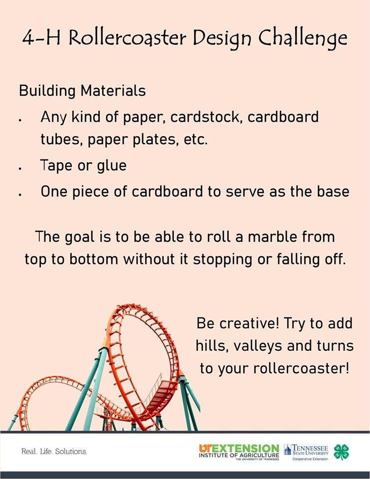 4-H Rollercoaster Design Challenge