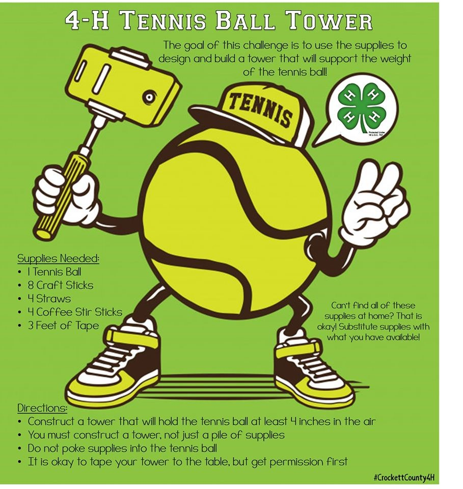 4-H Tennis Ball Tower
