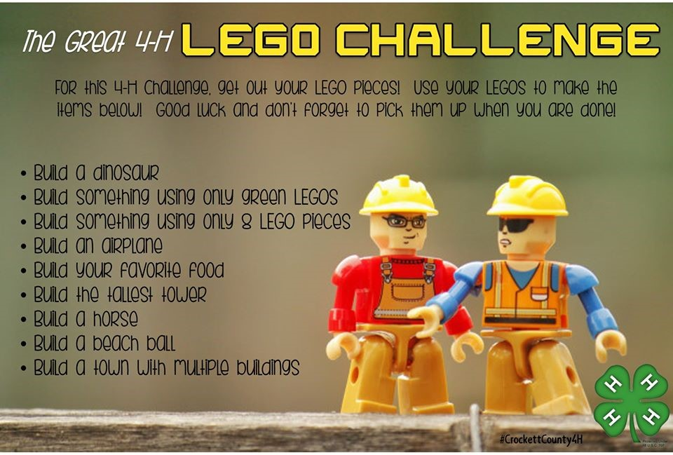 The Great 4-H LEGO CHALLENGE