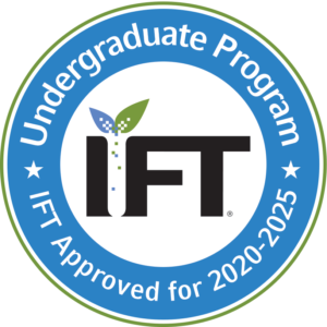 Institute of Food Technologists Undergraduate Program Approval Badge for years 2020-2025