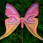 Picture of painted butterfly sculpture
