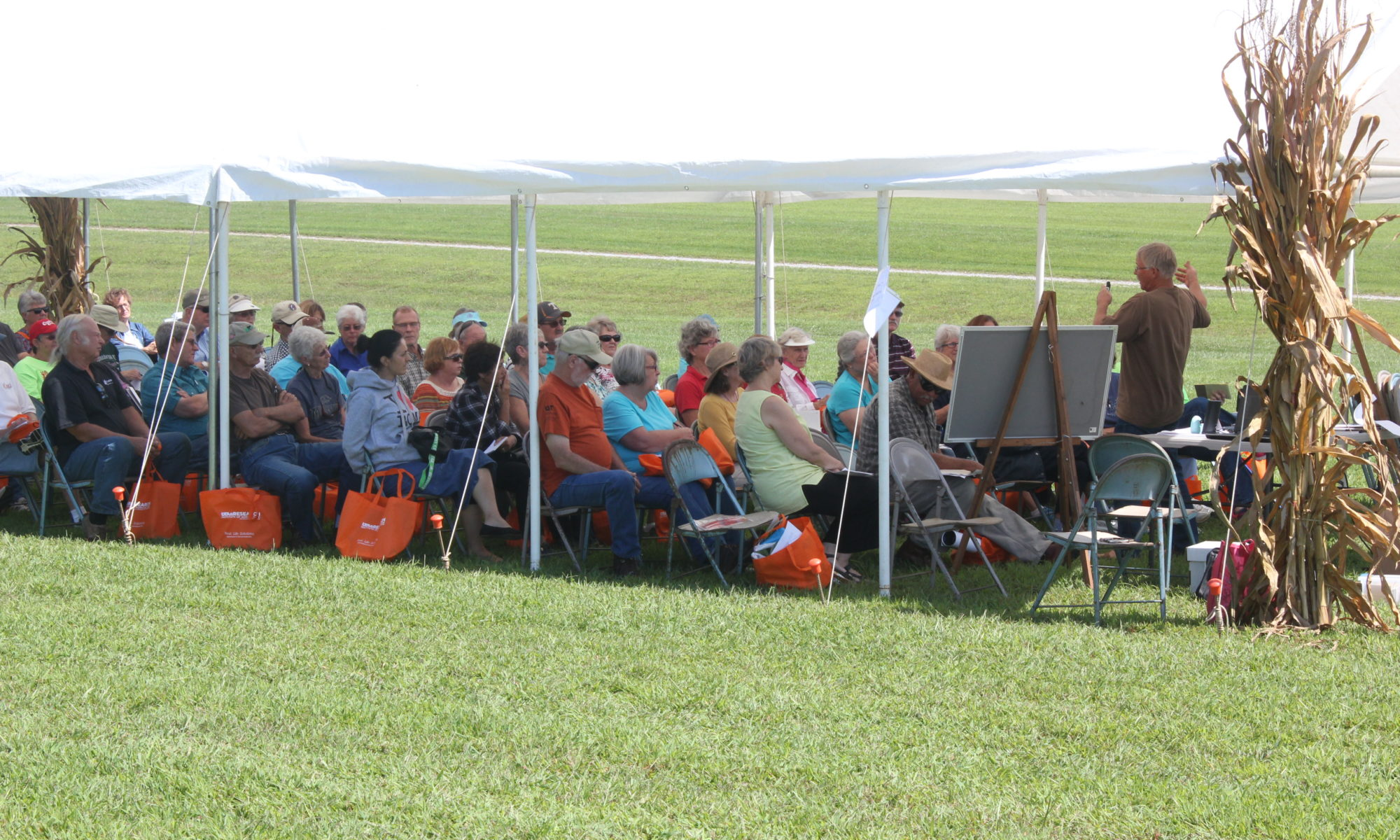Picture of attendees at a field day session