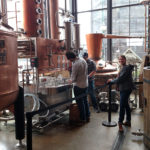 Picture of students at distillery