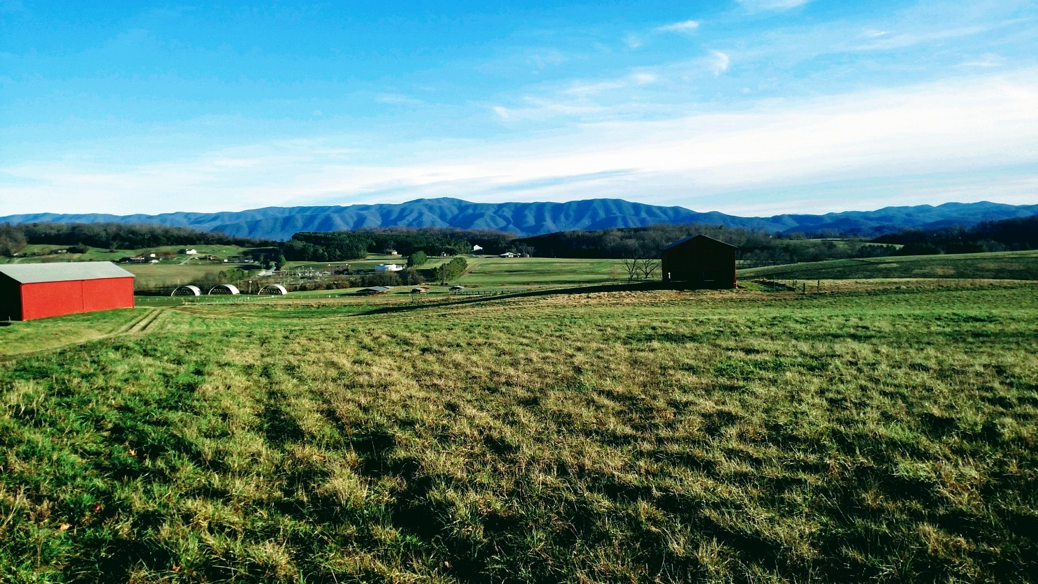 Picture of mountainous view from AgResearch Center