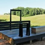 One of the shooting clays at Lone Oaks Farm